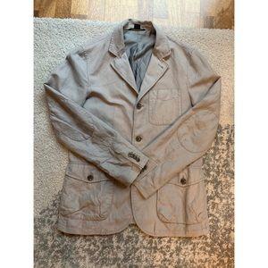 Armani Exchange Grey Lightweight Blazer Jacket - M